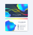 modern template for business card design vector image