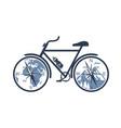 mountain bike emblem vector image