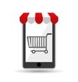 online shopping cart design vector image