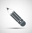 pencil icon vector image vector image