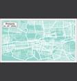 pretoria south africa city map in retro style vector image vector image