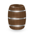 real wood barrel on a white background vector image