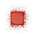 red watercolor square vector image vector image