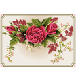 Roses Ornament on Vintage Frame vector image