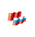 russia and china flags on vector image vector image
