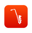 saxophone icon digital red vector image