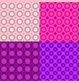 seamless geometrical circle pattern design vector image vector image