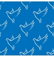 Seamless pattern of flying doves of peace vector image