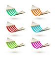 set colorfuk hammock template striped hammocks vector image
