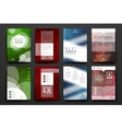 Set of brochure poster design templates in