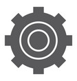 settings glyph icon technology and service gear vector image