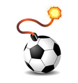 soccer ball bomb isolated over white background vector image vector image