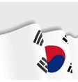 South Korean waving Flag vector image vector image