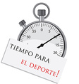 Stopwatch with spanish text vector image vector image