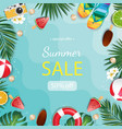 summer sale background with tropical palm and vector image vector image