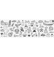 symbols italy doodle set vector image vector image