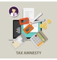 Tax amnesty scissor government vector image