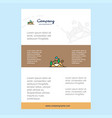 template layout for scenery comany profile annual vector image vector image
