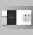 the minimal of editable layout vector image vector image