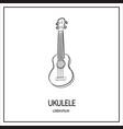 ukulele isolated icon vector image vector image