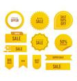 variety sales tag set vector image vector image