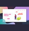 woman slicing fresh citrus fruit landing page vector image vector image