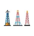 Oil extraction platform vector image