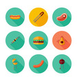 bbq icon set vector image