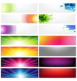 Big Set Abstract Banners vector image