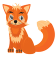 Drawing of the fox on white background vector image