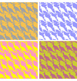 set Kangaroo seamless pattern Color texture vector image