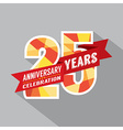 25th Years Anniversary Celebration Design vector image vector image