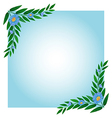 A template with green and blue borders vector image vector image