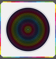 abstract colorful parallel inner circles pattern vector image