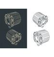 aircraft brakes drawings vector image