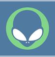 alien icon vector image vector image