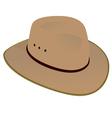 Australian Wide Brim Hat vector image vector image