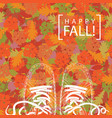 autumn banner with the words and contours of shoes vector image vector image