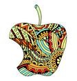 Bitten green apple vector image