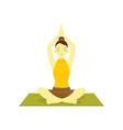 buddhism prayer pose yoga meditation vector image vector image