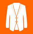 business suit white icon vector image vector image