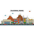 california fresnocity skyline architecture vector image vector image