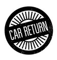 car return rubber stamp vector image vector image
