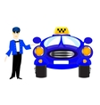 Chauffeur taxi on white background vector image vector image