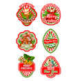 christmas badge for new year winter holiday design vector image