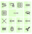 close icons vector image vector image