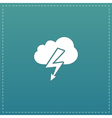 cloud lightning icon vector image vector image