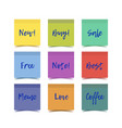color realistic sticky notes vector image