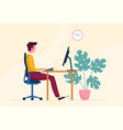 correct posture or position when working vector image