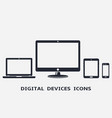 digital device icons smart phone tablet laptop vector image vector image
